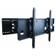 Titan Series Full Motion Wall Mount featuring Solid Aluminum Arms for Large TVs 175lbs Black