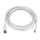 15ft USB 2.0 A Male to Mini-B 5pin Male 28/24AWG Cable w/ Ferrite Core (Gold Plated) - WHITE
