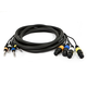 10ft 4-Channel TRS Male to XLR Female Snake Cable