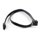 24inch SATA 6Gbps Cable w/Locking Latch (90 Degree to 180 Degree) - Black