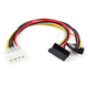 8inch 4pin MOLEX Male to Two 15pin SATA II Female w/ 90 degree Power Cable