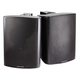 Monoprice 2-Way Active Wall Mount Speakers (Pair) - 25W - Black (Open Box)
