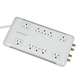 10 Outlet Power Surge Protector w/ Sliding Safety Covers - 2880 Joules