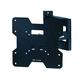 Titan Series Dual Pivot Single arm Swivel Wall Mount for Small 20 - 42 inch TVs 80lbs Black - No Logo