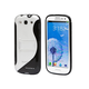 PC+TPU Horizontal Stand Case for Galaxy SIII - Black/Clear