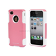 Dual Guard PC+Silicone Case for iPhone 4/4s - Bubblegum