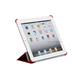 Synthetic Leather Stand/Cover with Magnetic Latch for iPad 2, iPad 3, iPad 4 - Red
