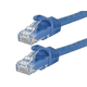 Flexboot Cat6 Ethernet Patch Cable - Snagless RJ45, Stranded, 550Mhz, UTP, Pure Bare Copper Wire, 24AWG, 50ft, Blue