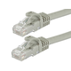 Monoprice FLEXboot Cat6 Ethernet Patch Cable - Snagless RJ45, Stranded, 550MHz, UTP, Pure Bare Copper Wire, 24AWG, 100ft, Gray