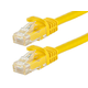 FLEXboot Series Cat6 24AWG UTP Ethernet Network Patch Cable, 1ft Yellow
