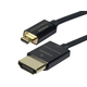 Ultra Slim Active High Speed HDMI Cable with HDMI Micro Connector, 6ft Black
