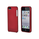 Polycarbonate Soft Touch Case for iPhone 5/5s/SE - Metallic Red