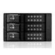 """Monoprice 5.25"""" to 3x3.5"""" SAS/SATA 6.0 GB/s Trayless Hot-Swap Cage BLACK"""