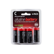 Monoprice C Alkaline Battery 4-Pack