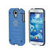 Industrial Metal Mesh Guard Case for Samsung Galaxy S4 - Blue
