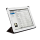 Synthetic Leather Stand/Cover with Magnetic Latch for iPad Air - Black