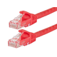 Monoprice FLEXboot Cat5e Ethernet Patch Cable - Snagless RJ45, Stranded, 350Mhz, UTP, Pure Bare Copper Wire, 24AWG, 0.5ft, Red