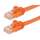 FLEXboot Series Cat5e 24AWG UTP Ethernet Network Patch Cable, 1ft Orange