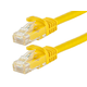 FLEXboot Series Cat5e 24AWG UTP Ethernet Network Patch Cable, 1ft Yellow