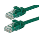 Monoprice Flexboot Cat6 Ethernet Patch Cable - Snagless RJ45, Stranded, 550Mhz, UTP, Pure Bare Copper Wire, 24AWG, 3ft, Green