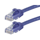 Monoprice FLEXboot Cat5e Ethernet Patch Cable - Snagless RJ45, Stranded, 350MHz, UTP, Pure Bare Copper Wire, 24AWG, 50ft, Purple