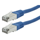 Monoprice Entegrade Cat6A Ethernet Patch Cable - Zeroboot RJ45, Stranded, 550Mhz, STP, Pure Bare Copper Wire, 10G, 26AWG, 7ft, Blue