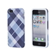 Textile Silicone Case for iPhone 5/5s/SE - Blue Plaid