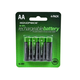 Monoprice Ni-MH Rechargeable AA Batteries (2000mAh) - 4 Pack