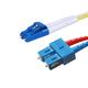 Monoprice Fiber Optic Cable, LC/SC, Single Mode, Duplex - 6 meter (9/125 Type) - Yellow, Corning