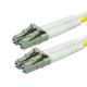 10Gb Fiber Optic Cable, LC/LC, Multi Mode, Duplex - 50 Meter (50/125 Type) - Aqua