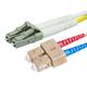 Monoprice 10Gb Fiber Optic Cable, LC/SC, Multi Mode, Duplex - 3 Meter (50/125 Type) - Aqua, Corning