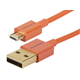 Premium USB to Micro USB Charge & Sync Cable 0.5ft - Orange