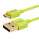 Premium USB to Micro USB Charge & Sync Cable 0.5ft - Green