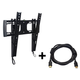 Low Profile Tilting Wall Mount (Max 88 lbs, 32 - 55 inch) w/ 10ft HDMI Cable