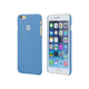 PC Case with Soft Sand Finish for 5.5-inch iPhone 6 Plus and 6s Plus - Azurite Blue