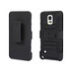 Belt Clip Armor Case w/ Stand for Samsung Galaxy Note 4 - Black