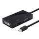 Mini DisplayPort 1.2a / Thunderbolt to 4K HDMI, DVI, and VGA Passive Adapter, Black