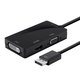 DisplayPort 1.2a to 4K HDMI, Dual Link DVI, and VGA Passive Adapter, Black
