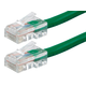 ZEROboot Series Cat5e 24AWG UTP Ethernet Network Patch Cable, 1ft Green