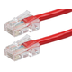 ZEROboot Series Cat5e 24AWG UTP Ethernet Network Patch Cable, 5ft Red