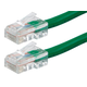 ZEROboot Series Cat5e 24AWG UTP Ethernet Network Patch Cable, 7ft Green