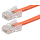 Monoprice Zeroboot Cat5e Ethernet Patch Cable - RJ45, Stranded, 350Mhz, UTP, Pure Bare Copper Wire, 24AWG, 20ft, Orange