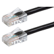 Monoprice ZEROboot Cat5e Ethernet Patch Cable - RJ45, Stranded, 350MHz, UTP, Pure Bare Copper Wire, 24AWG, 50ft, Black