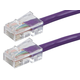 ZEROboot Series Cat5e 24AWG UTP Ethernet Network Patch Cable, 50ft Purple