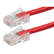 ZEROboot Series Cat5e 24AWG UTP Ethernet Network Patch Cable, 50ft Red