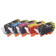 Monoprice compatible Canon PGI-220/CLI-221 Bundle -Photo Black, Cyan, Magenta, Yellow, Black