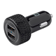 2-Port USB Car Charger, 4.8A Black