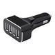 4-Port USB Car Charger, 9.6A Black