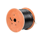 Monoprice Cat6 Ethernet Bulk Cable - Stranded, 550Mhz, UTP, Pure Bare Copper Wire, Outdoor, 23AWG, 1000ft, Black