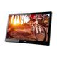 "AOC E1659FWU 16"" USB Portable LED LCD Monitor - 16:9 - 8ms - USB 3.0 - Adjustable Display Angle - 1366 x 768 - 16.7 Million Colors - 200 Nit - 500:1 - HD - USB - 8 W - Glossy Piano Black"